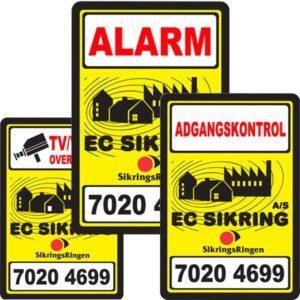 Tyverialarm kamera overvågning adgangskontrol