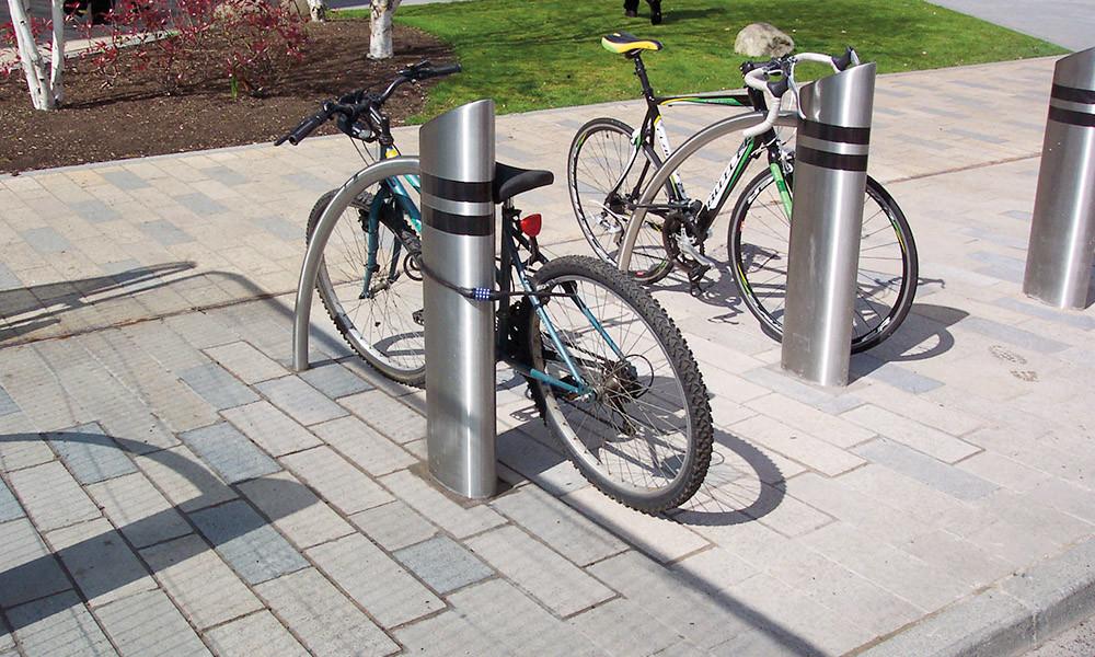 Pullerter cykel stativ mekanisk sikring